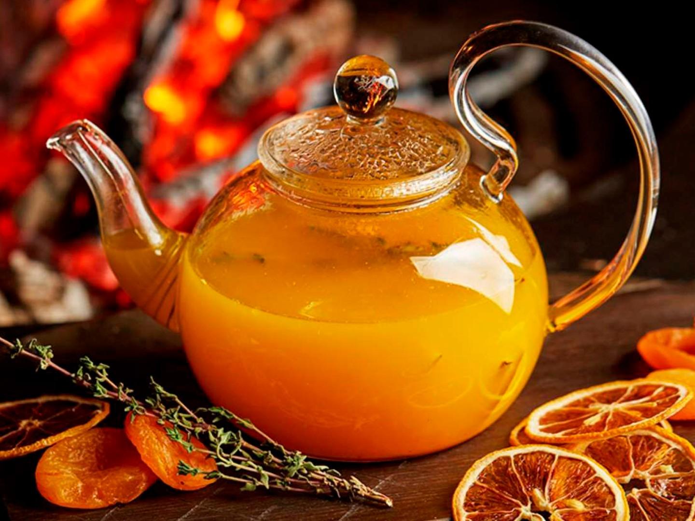 облепиховый чай с грейпфрутом